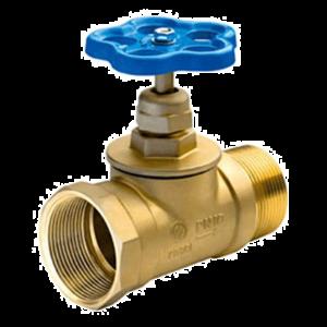 Клапан 51 мм, латунь (прямой) КПЛП 50-1 (15Б3р) (муфта-цапка)
