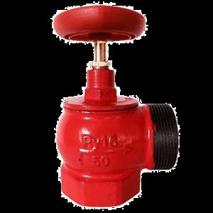 Клапан 51 мм, чугун (угловой, 90 градусов) КПЧМ 50-1 (муфта-цапка)