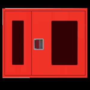 Шкаф пожарный ШПК 315 НОК навесной, открытый, красный