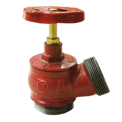 Клапан 65 мм, чугун (угловой, 125 градусов) КПЧ 65-2 (цапка-цапка)