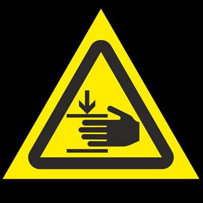 Знак - Осторожно. Возможно травмирование рук W27