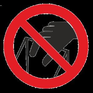 Знак - Запрещается брать руками. Сыпучая масса (непрочная упаковка) Р-33