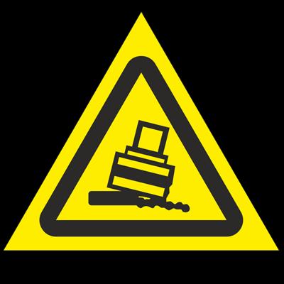 Знак - Осторожно. Возможно опрокидывание W24