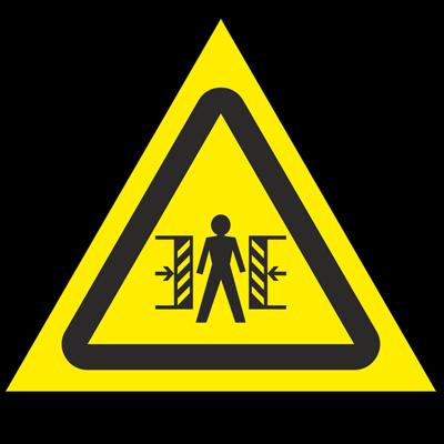 Знак - Внимание. Опасность зажима W23
