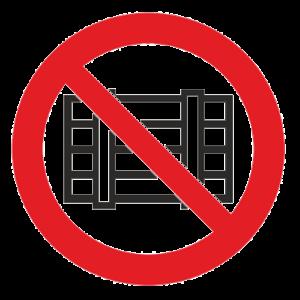 Знак - Запрещается загромождать проходы Р-12