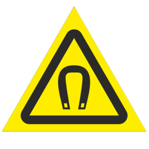 Знак - Внимание. Магнитное поле W13
