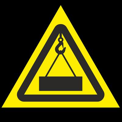 Знак - Осторожно. Работает кран W38